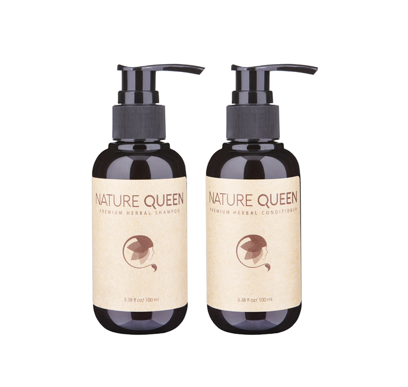 NATURE QUEEN HERBAL SHAMPOO & CONDITIONER 3,38oz